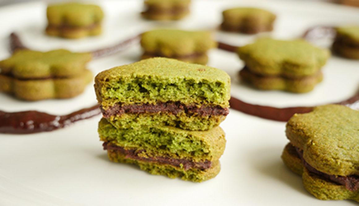 Sablés vert à la menthe fourrés chocolat site